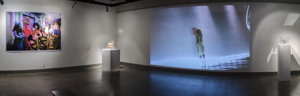 Việt Lê heARTbreak!installation view, 2016 mixed media HD video, color sound, duration: 5:25 Courtesy of Kellogg University Art Gallery